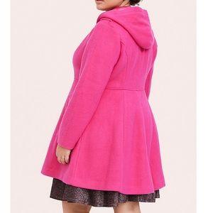 New Torrid size 2 18/20 Pink hooded coat